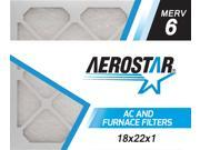 18x22x1 AC and Furnace Air Filter by Aerostar - MERV 6, Box of 12 9SIV10J5UD1371