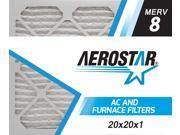 20x20x1 AC and Furnace Air Filter by Aerostar - MERV 8, Box of 12 9SIV10J5UD1365
