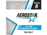 16x16x1 AC and Furnace Air Filter by Aerostar - MERV 6, Box of 12 9SIV10J5UD1366