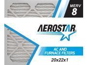 20x22x1 AC and Furnace Air Filter by Aerostar - MERV 8, Box of 12 9SIV10J5UD1372