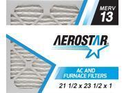 21 1/2 x 23 1/2 x 1 AC and Furnace Air Filter by Aerostar - MERV 13, Box of 12 9SIV10J5UD1370