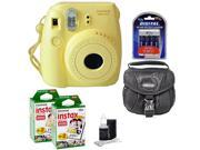 Fuji Instax Mini 8 Fujifilm Instant Film Camera Yellow + 40 Film + Accessory Kit