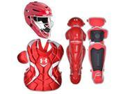 Under Armour Baseball Victory Series Catching Kit (Scarlet Red/Small) 9SIV1686WY2841