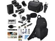 Canon XA30 HD Professional Video Camcorder + Mega Accessory Kit with Macro and Telephoto Lenses + Filters + LED + More 9SIV16R65K8577