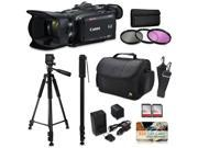 Canon XA35 HD Professional Video Camcorder + Accessory Kit with 128GB Memory + Tripod + Monopod + Bag + Extra Battery + Gift Card 9SIV16R65K8632