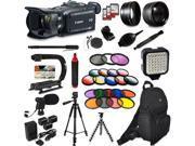 Canon XA30 HD Professional Video Camcorder + Extra Accessories, XGrip and HandGrip handles + Monopod + LED + Mic + Lense 9SIV16R65K8854