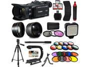 Canon XA35 HD Professional Video Camcorder + Mega Accessory Kit with Macro and Telephoto Lenses + Filters + LED + More 9SIV16R65K9251