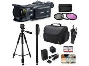 Canon XA30 HD Professional Video Camcorder + Accessory Kit with 128GB Memory + Tripod + Monopod + Bag + Extra Battery 9SIV16R65K9303