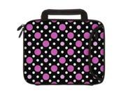 Designer Sleeves 8.9-Inch to 10-Inch Polka Dots Tablet Sleeve/iPad Sleeve with Handles, Black/Pink/White (10DSH-PDBPW) 9SIV1977328882