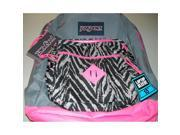 Jansport City Scout Shady Grey/Fluorescent Pink Backpack