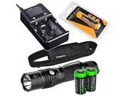 fenix pd35 tac 1000 lumen cree led tactical flashlight with genuine fenix arbl2 battery, fenix arec1 plus battery charger and two edisonbright cr123a lithium ba 9SIV19777D1756