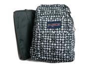 jansport unisex digital student black texture tooth backpack