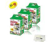 Fujifilm INSTAX Mini Instant Film 6 Pack = 60 SHEETS (White) For Fujifilm Mini 8 and Mini 9 Cameras