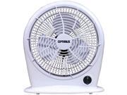 optimus f1030a 10inch 3speed personal fan, white