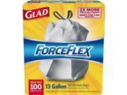 Glad ForceFlex Tall Kitchen Drawstring Trash Bags 70427