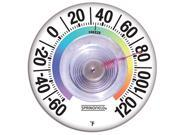 Springfield 91903 Stick-On Outdoor Window Thermometer with Suction Cup, 3.5