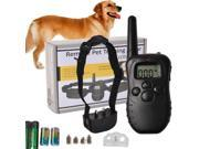 Remote LCD 100LV 300M Electric Shock Vibrate Pet Dog Training Collar Waterproof 9SIV1C87C17413