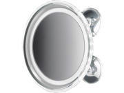 "8"""" Round Suction Cup 5x Cosmetic Magnifying LED Light Mirror, Chrome"" 9SIV1FF74C9779"