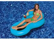 "62.5"""" Blue """"COOL CHAIR"""" Water Inflatable Lounge Chair with Head Rest and Cup Holder"" 9SIV1JB71S2367"