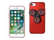 Reiko iPhone 8/ 7 Case With Led Fidget Spinner Clip On In Red