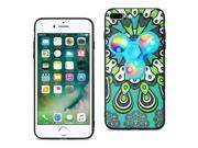 Reiko Design The Inspiration Of Peacock iPhone 8 Plus/ 7 Plus Case With Led Fidget Spinner Clip On In Turquoise