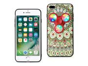 Reiko Design The Inspiration Of Peacock iPhone 8 Plus/ 7 Plus Case With Led Fidget Spinner Clip On In Beige