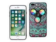 Reiko Design The Inspiration Of Peacock iPhone 8 Plus/ 7 Plus Case With Led Fidget Spinner Clip On In Teal