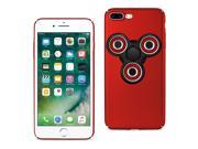 Reiko iPhone 8 Plus/ 7 Plus Case With Led Fidget Spinner Clip On In Red