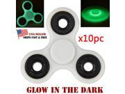 10x Lot Glowing Hand Spinner Tri Fidget metal Ball Desk Focus Toy For Kids/Adult