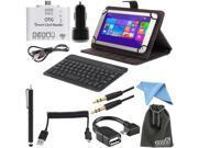EEEKit for Toshiba Encore 2 WT8-B32CN,Folio Stand Case+Keyboard+OTG+Car Charger