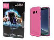 LifeProof FRE Case Waterproof Case For Samsung Galaxy S8 Twilights Pink NEW OP