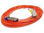 IBM Tyco 4x5 CX4-QSFP 40m FO Paralight Cable New 77P9200 CX4/QSFP F. Optic  2064780-3