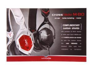 V-moda – Promotional Card of Custom Shields for M-80 Headphones