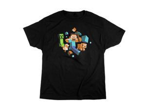 Jinx Minecraft Run Away! Glow in the Dark T-Shirt XL
