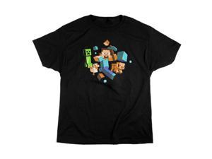 Jinx Minecraft Run Away! Glow in the Dark T-Shirt XXL