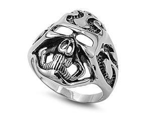 Stainless Steel Casting Ring - Skull