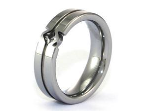 6mm Tungsten Carbide Ring with Fancy CZ Inset