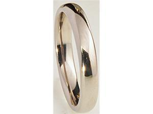 4mm Wide Simple Domed Titanium Band