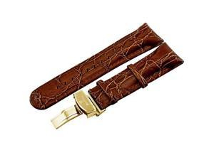 Just bling Single pin Genuine leather band 24mm Brown