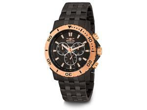Invicta Men's Pro Diver Chronograph Black Stainless Steel Watch