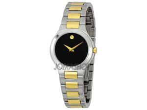 Movado Museum Ladies Two Tone Watch 0606182