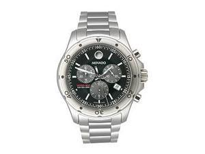 Movado Series 800 Black Dial Chronograph Mens Watch 2600076