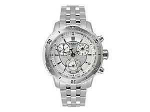 Tissot PRS 200 Silver Dial Chrono Steel Bracelet Mens Watch T067.417.11.031.00