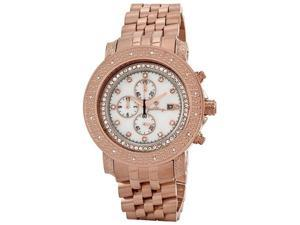 Mens Just bling 0.16 CT Round Diamond RG watch JB-6114H