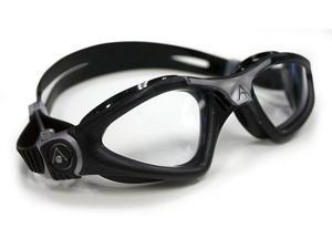 Aqua Sphere Kayenne Swim Goggle - Clear Lens - Silver Great for Swimming