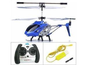 Syma S107 Heli Mini RC Remote Control Helicopter Metal Series with Gyro - Blue