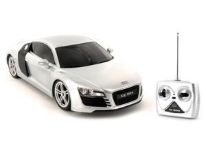Audi R8 Silver 1:18th Scale RC Diecast Remote Control Car
