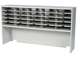 Mayline SR6033RPG Mailroom system  1 tier sorter with riser  25 pockets  60w x 13-1/4d x 33-1/4h