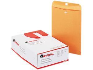 Universal 35265 Kraft Clasp Envelope  Side Seam  28lb  9 1/2 x 12 1/2  Light Brown  100/box