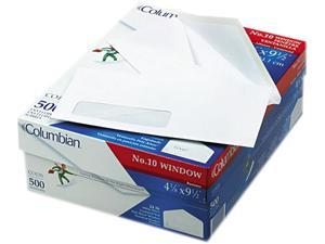 Mead Westvaco CO170 Poly-Klear Single Window Envelopes  #10  White  500/box
